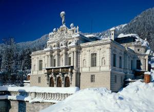 Schloss Linderhof im Winter, Ettal